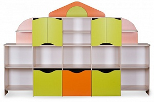 """DOMIK"" (SMALL HOUSE) Toy Storage Unit (2600*460*1695)"
