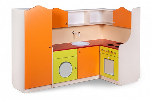 """KHOZYAYUSHKA"" (GOOD HOSTESS) Kitchen Playroom – Angled Layout (W1680*D860*H1150)"