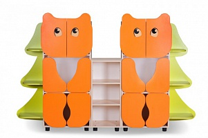 """DVA MEDVEDA"" (TWO BEARS) Toy Storage Unit (2150*320*1350)"